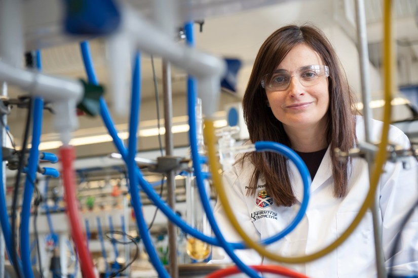 Prof. Eva Hevia says that bi-metallics make it possible to use water in chemical reactions - the holy grail for chemists. Image credit - Prof. Hevia