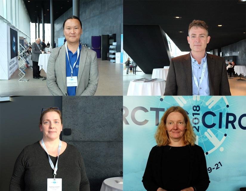 Clockwise from top left: Dr Stanislav Ksenofontov, Dr Simon Walmsley, Marianne Kroglund and Ingibjörg Jónsdóttir. Image credit - Annette Ekin