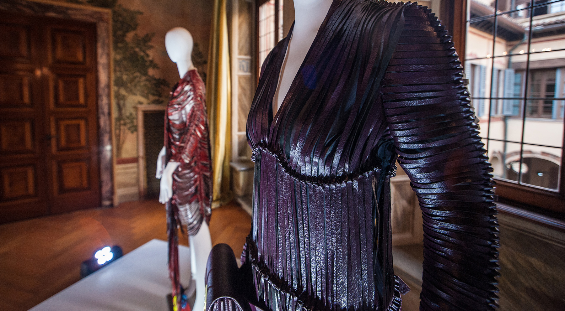 The production of this leather-like textile is considered to be zero impact as it is created from grape marc - a waste material from wine production.
