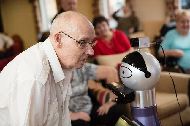 Sensors placed throughout a retirement home helped the ENRICHME robot to keep track of the movements and activities of residents taking part in the project's trial.