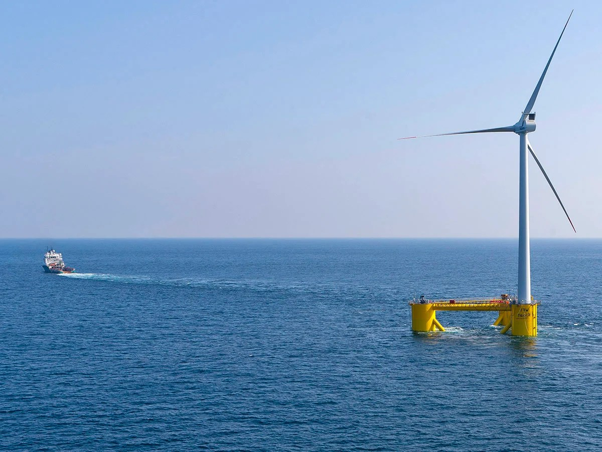 Advocates of floating offshore wind platforms say they are cheaper to run and install, less disruptive to sea life, and have greater output than near-shore alternatives.