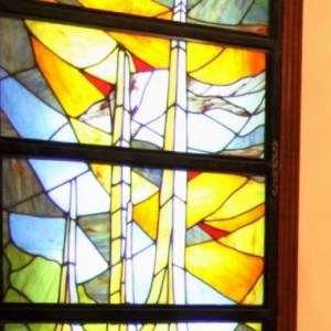 Stained glass panels design