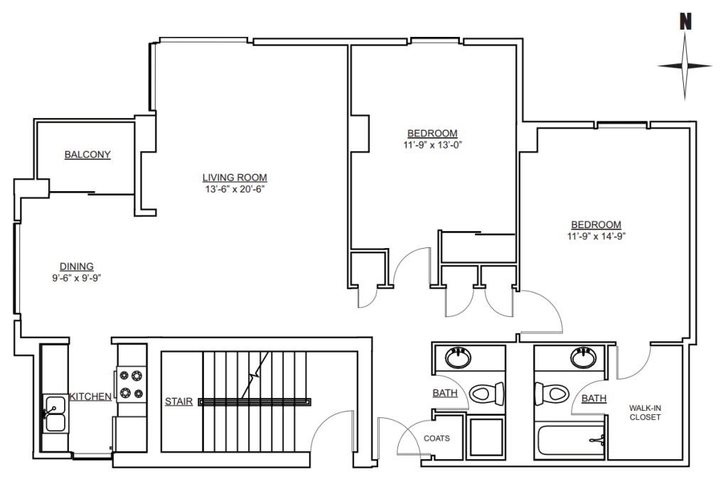 West Wing - 2 Bedroom 2 Bath