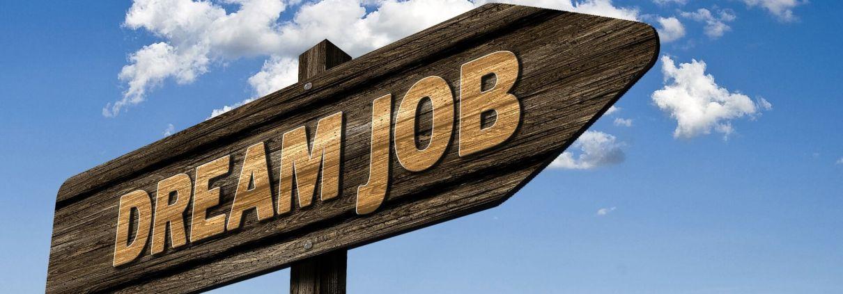 Wegweissschild Dream Job