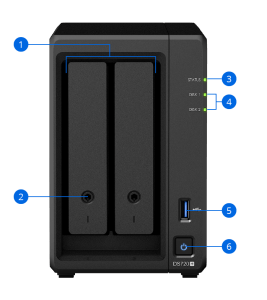 Synology DS720+ - Back
