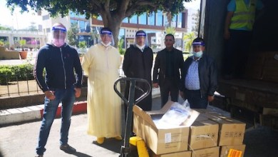 صورة ودادية قضاة الدار البيضاء توزع 5000 قناع واقي على العاملين بالمحاكم