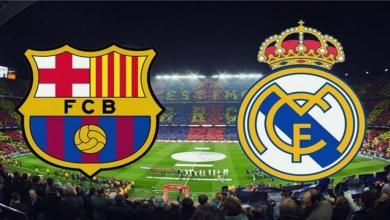 """صورة البث المباشر لـ""""كلاسيكو"""" برشلونة وريال مدريد"""