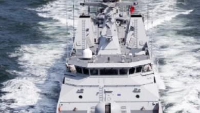 صورة البحرية الملكية تجهض عملية لتهريب في المخدرات في عرض الجبهة