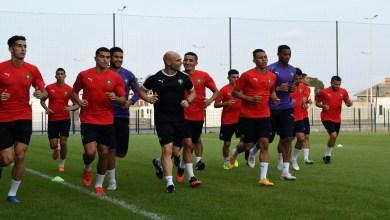 صورة المنتخب الوطني يجري حصته التدريبية الأولى قبل مواجهة إفريقيا الوسطى