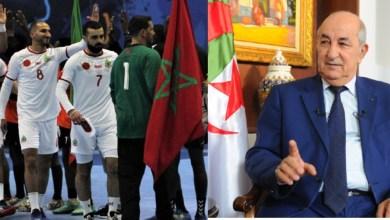 صورة عبد المجيد تبون يُساند منتخب الجزائر لكرة اليد ويتمنى الانتصار على المغرب