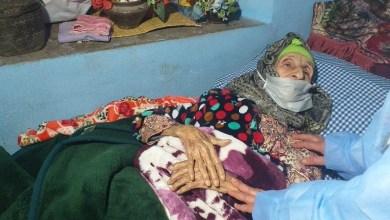 صورة بعد مراسلة الداخلية.. سيدة بمراكش تتلقى جرعة لقاح كورونا داخل منزلها