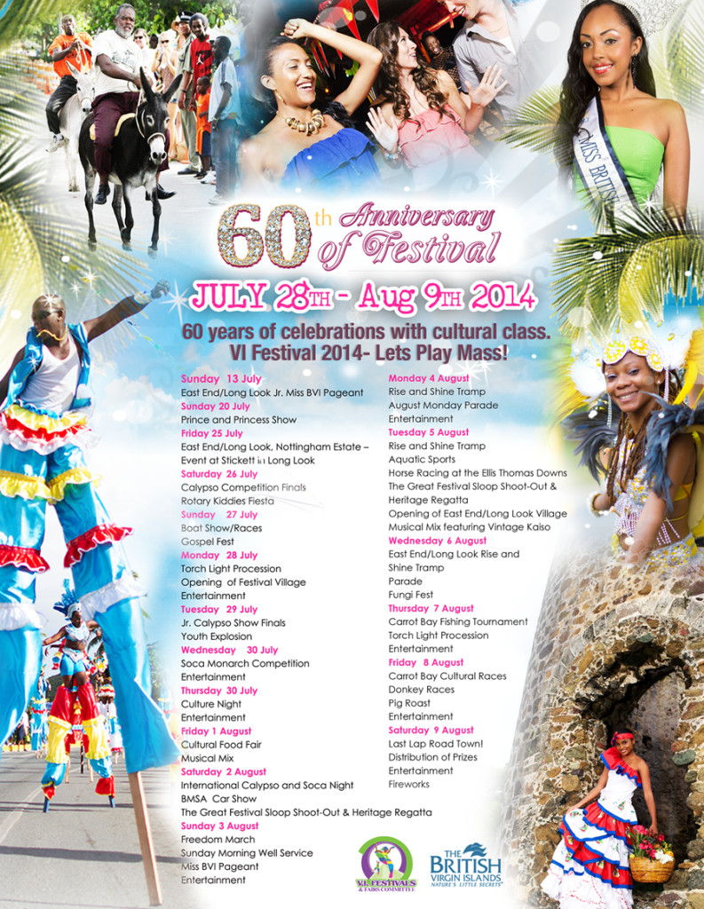 BVI Festival Schedule Announced