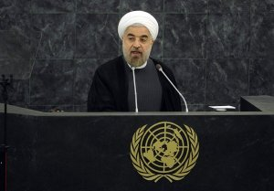 Rouhani addressing the U.N.