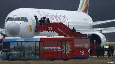 Swiss authorities detained hijacker - Ethiopian Airlines flight - Geneva's international airport