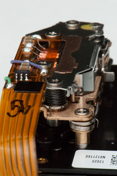 D2H shutter mechanism - bottom view