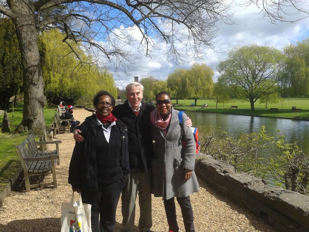 L-R: Rose Kaziro, John Stephenson and Angela Achampong
