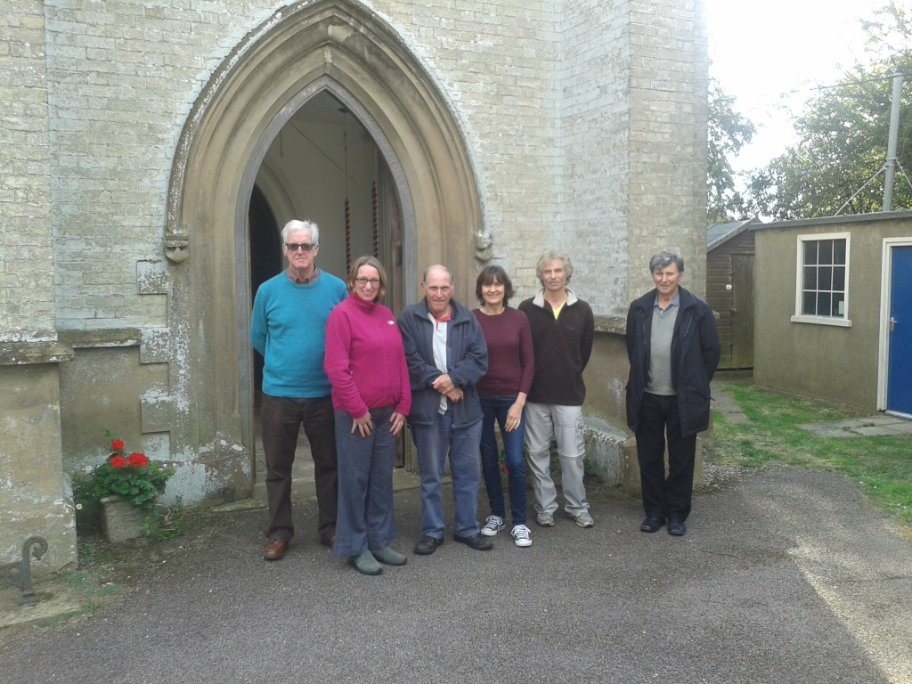 Current day 'Hornchurch Youths'. L - R: Jim Laken, Helen Carter, Paul Bloomfield, Jillian Laken, Clive Stephenson and Lionel Woods