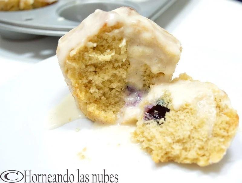 Muffins de limón y arándanos