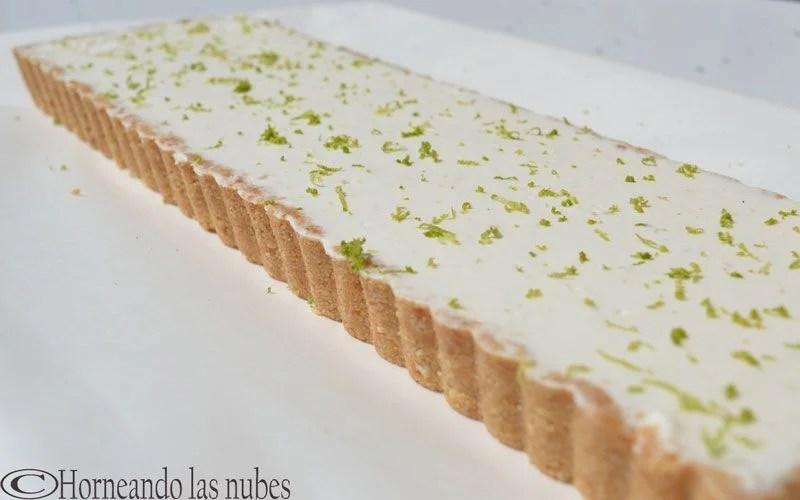 Tarta de queso y lima