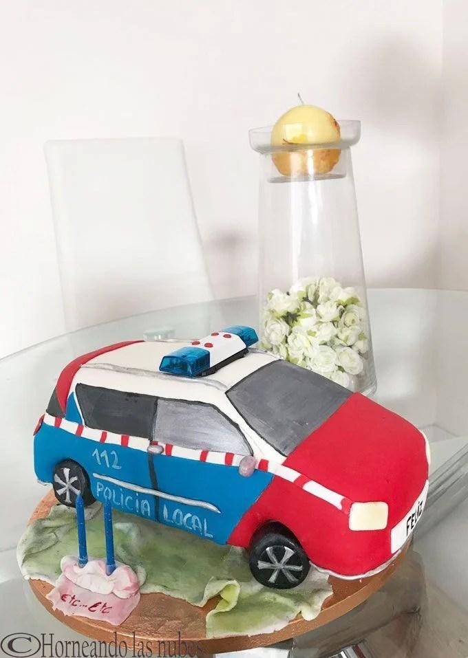 Tarta coche policia