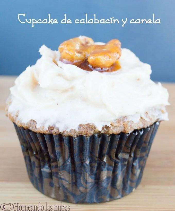 Cupcake de calabacín y canela