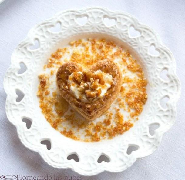 Mielitos con queso y nueces para San Valentín