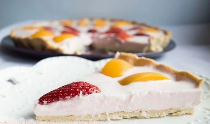 Tartaleta de yogurt y frutas
