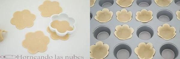 Pastelitos de crema pastelera y frambuesa
