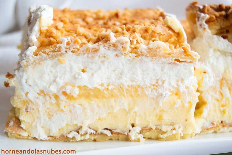 Tarta eclairs de crema y nata