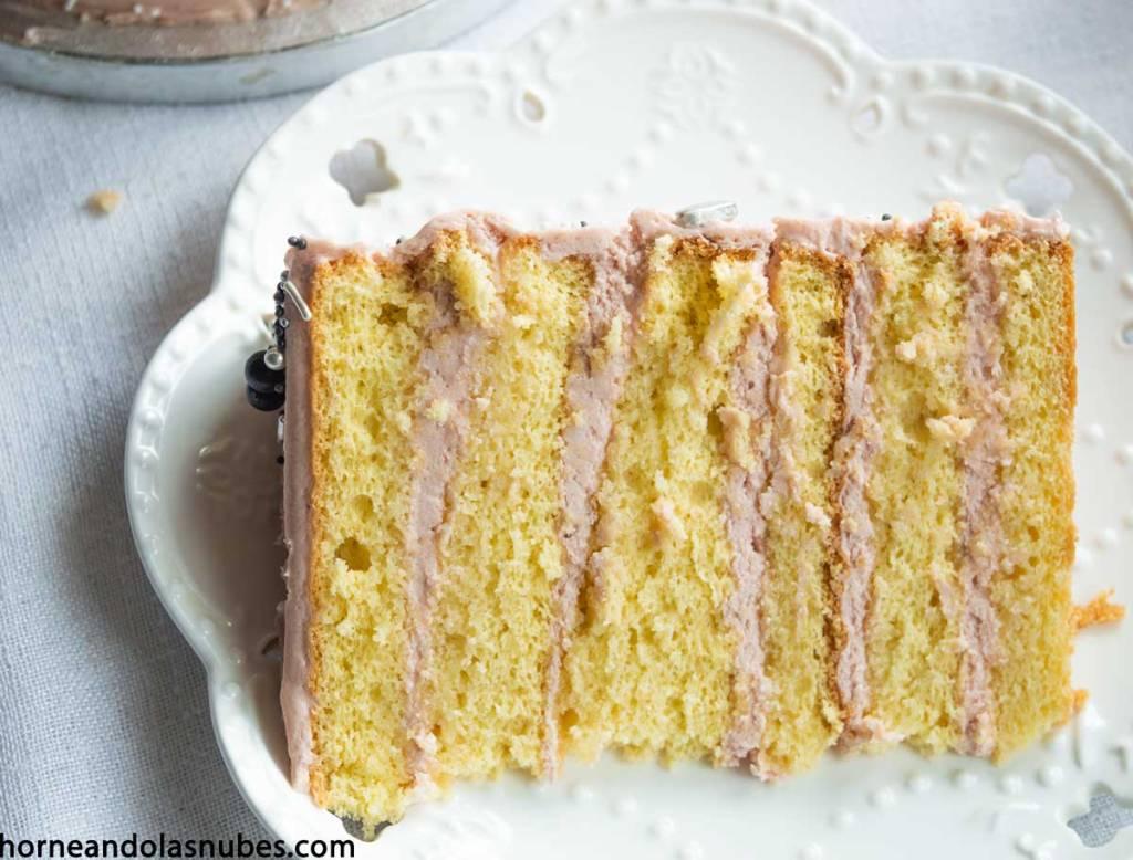 Layer cake con sabor a princesa y crema kinder
