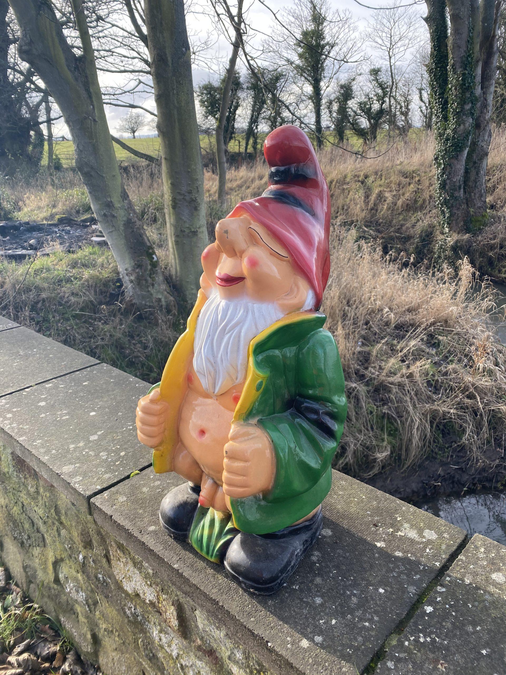 Large Flashing 3D Garden Gnome