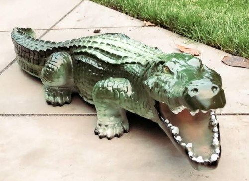Fibreglass Baby Crocodile Model Statue