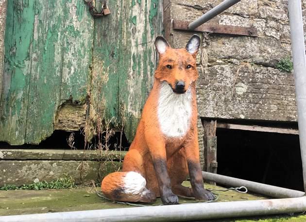 Life Size Model Fox Sitting