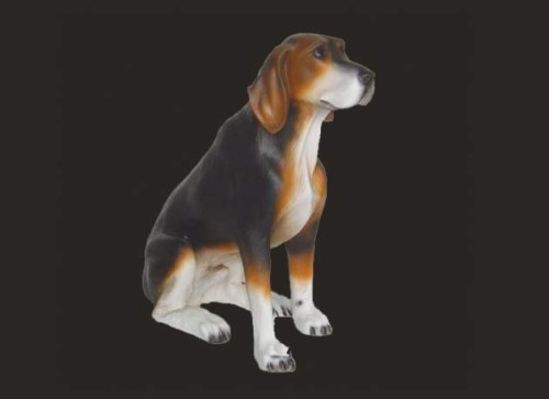 Life Size Model Hound Dog