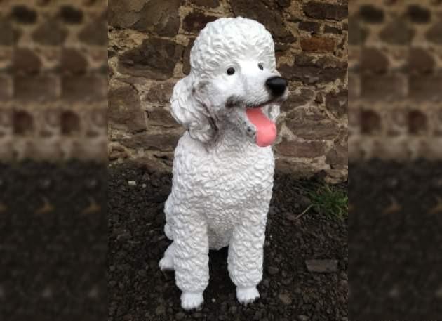 Life Size White Poodle Dog Model