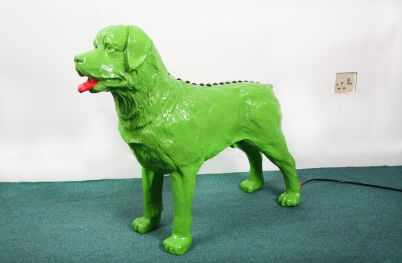 Bright green Rottweiler Dog Model