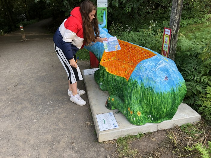 Life Size Highland Cow Bench Model