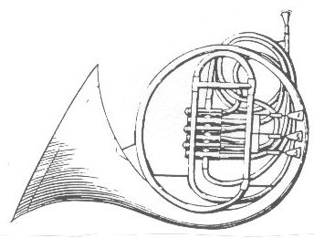 Vienna horn illustration