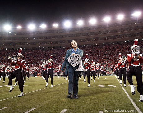 Leo in a marching band.