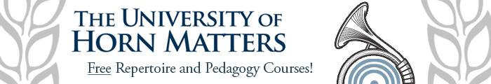 University of Horn Matters