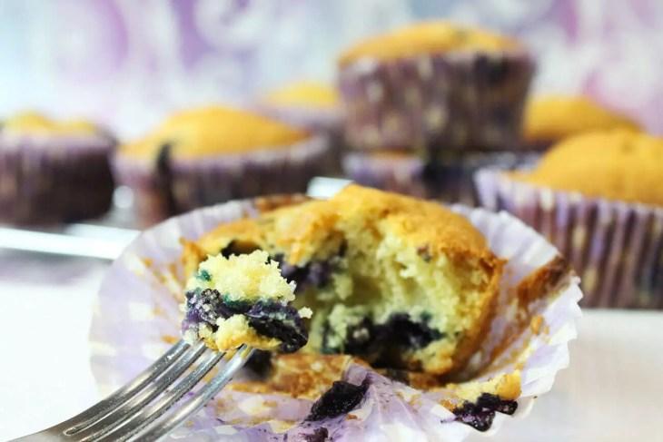 Muffins de arándanos caseros