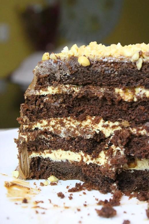 Como hacer pastel snicker