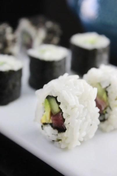 Maki sushi roll recipe vertical