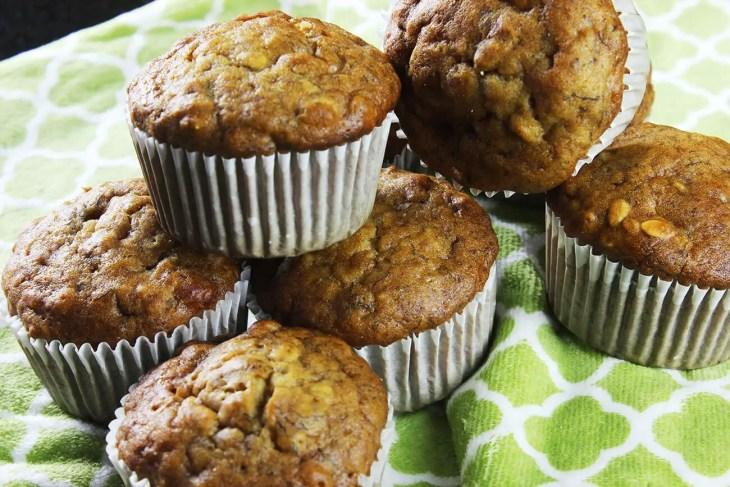 Muffins de plátano receta