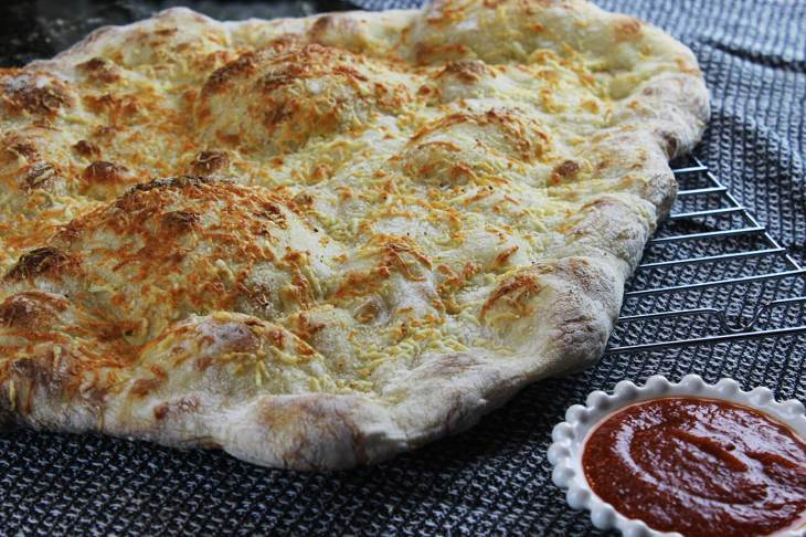 Focaccia with cheese and spices