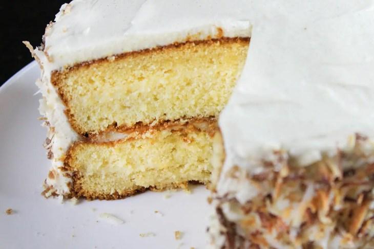 Pastel de coco receta