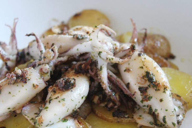 Squid recipe with potatoes
