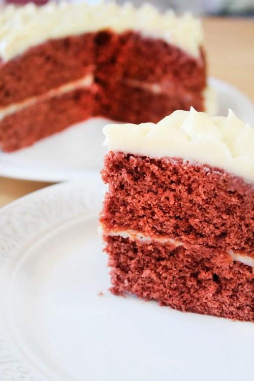 pastel de red velvet esponjoso y suave