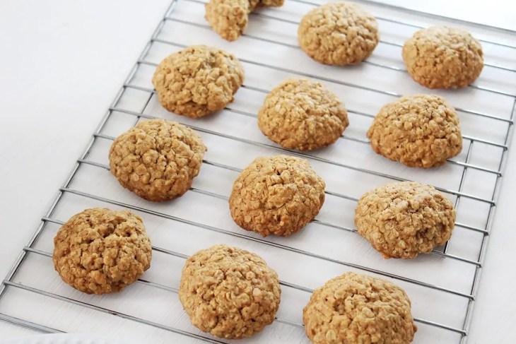 Receta de galletas de avena suaves