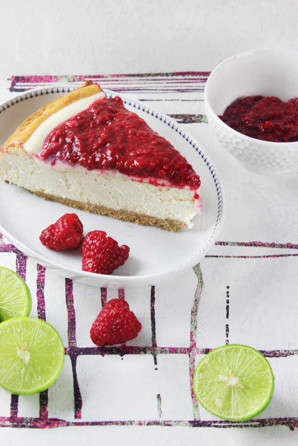 Receta de cheesecake de limon y frambuesa